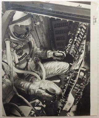 Signed NASA Photograph. Gordon COOPER, 1927 - 2004.