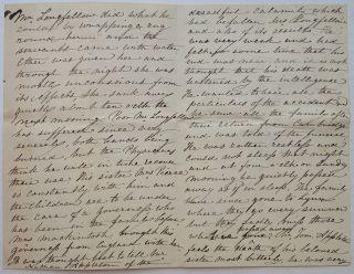 Lengthy handwritten letter about the events of July 1861 that would forever change his life