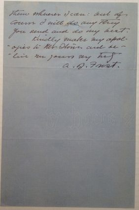 Autographed Letter Signed about an illustration