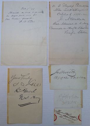 Collection of six signatures and autographed notes. UNITES STATES REAR ADMIRALS