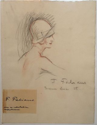 Original Signed Drawing. Fabien FABIANO, 1883 - 1962
