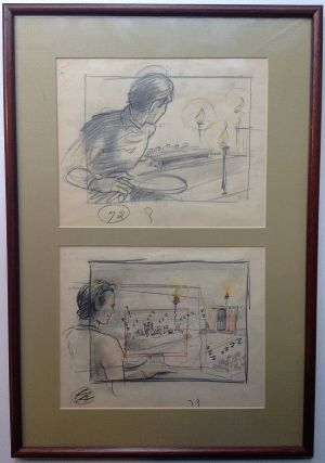 "Three framed original cartoons from ""Gulliver's Travels"" Thomas A. JOHNSON, 1907 - 1960"