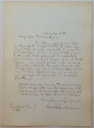 Autographed Letter Signed by Sharpshooter George S. Tuckerman. CIVIL WAR, - First United States...