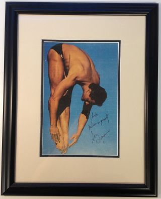 Framed Inscribed Photograph. Greg LOUGANIS, 1960