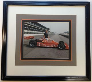 Framed Signed Photograph. A. J. FOYT, 1935