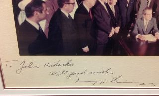 Framed Photograph inscribed to a Presidential Aide