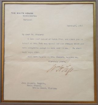 Framed Typed Letter Signed as Vice President