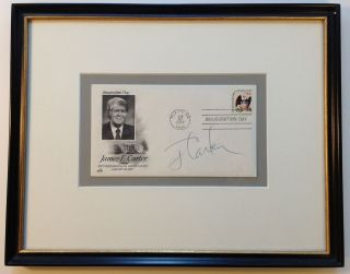 Framed signed envelope commemorating Inauguration Day. Jimmy CARTER, 1924