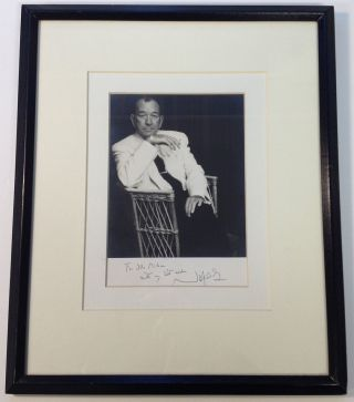 Framed Inscribed Photograph. Noel COWARD, 1899 - 1973