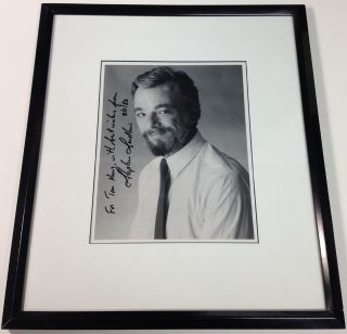 Framed Inscribed Photograph. Stephen SONDHEIM, 1930