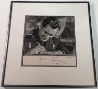 Framed Signed Photograph. Gherman TITOV, 1935 - 2000