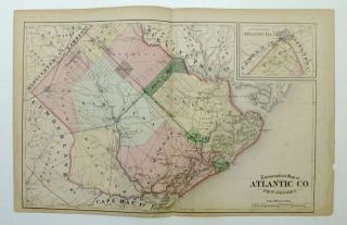 Topographical Map of Atlantic Co. New Jersey. Frederick W. BEERS