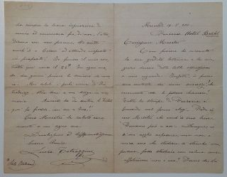 Autographed Letter Signed in Italian. Luisa TETRAZZINI, 1871 - 1940
