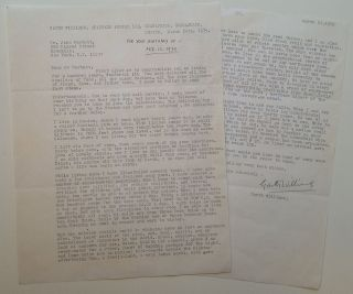 Lengthy Typed Letter Signed about life in Mexico. Garth WILLIAMS, 1912 - 1996