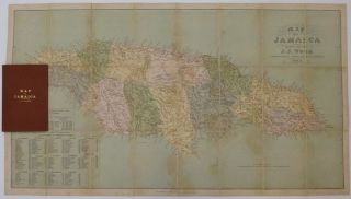 Map of Jamaica. J. J. WOOD