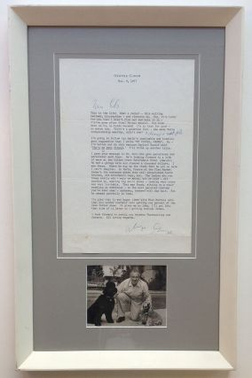 Framed Typed Letter Signed about show business. George CUKOR, 1899 - 1983