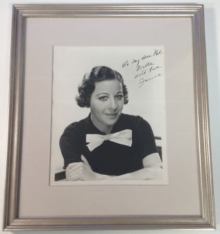Framed Inscribed Photograph. Fannie BRICE, 1891 - 1951.
