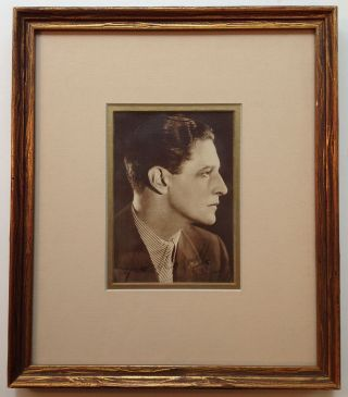 Framed Signed Photograph. Ivor NOVELLO, 1893 - 1951