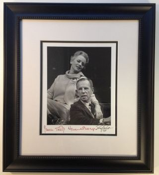 Framed Signed Photograph. Jessica TANDY, Hume CRONYN