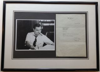 Framed Typed Letter Signed on personal stationery. Michael TODD, 1909 - 1958