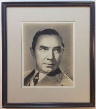 Framed Inscribed Vintage Photograph. Bela LUGOSI, 1882 - 1956.