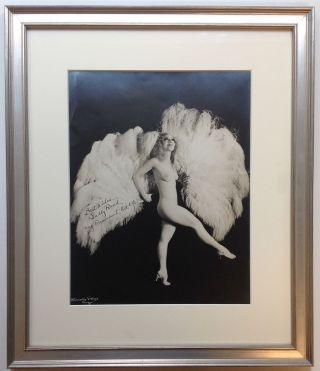 Framed Inscribed Photograph. Sally RAND, 1904 - 1979.