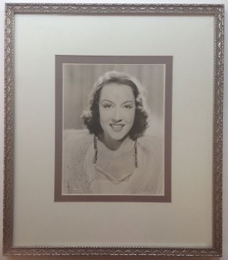 Framed Inscribed Vintage Photograph. Ethel MERMAN, 1908 - 1984