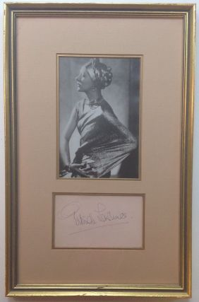 Signature Framed with Photograph. Gertrude LAWRENCE, 1898 - 1952