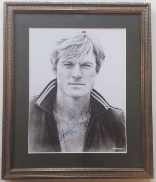 Framed Signed Photograph. Robert REDFORD, 1936