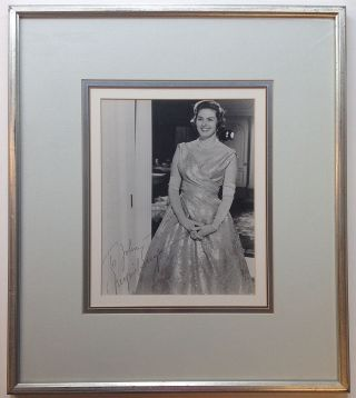 Framed Signed Photograph. Ingrid BERGMAN, 1915 - 1982.