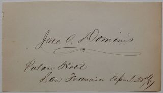 Signed Album Page. John Owen DOMINIS, 1832 - 1891