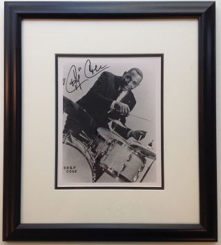 Framed Signed Photograph. Cozy COLE, 1909 - 1981