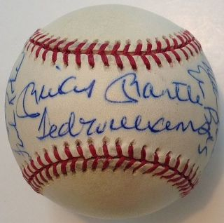 Baseball Autographed by 11 Hall of Famers. BASEBALL -- 500 Home Run Club.