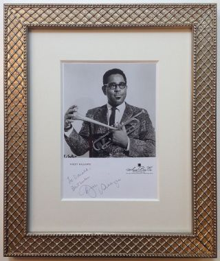 Framed Inscribed Photograph. Dizzy GILLESPIE, 1917 - 1993