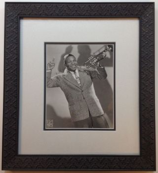 "Framed Signed Vintage Photograph. William ""Cat"" ANDERSON, 1916 - 1981."