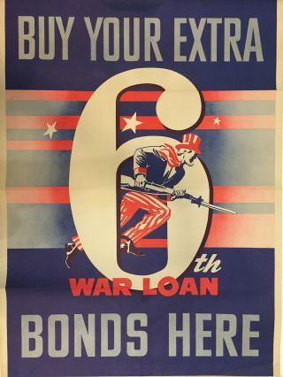 Buy Your Extra 6th War Loan Bonds Here. Government Printing Office.