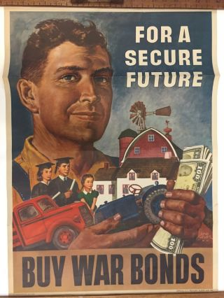For A Secure Future, Buy War Bonds. Government Printing Office