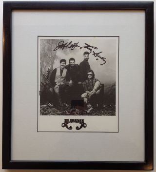 Framed Signed Photograph. ALABAMA, country music band