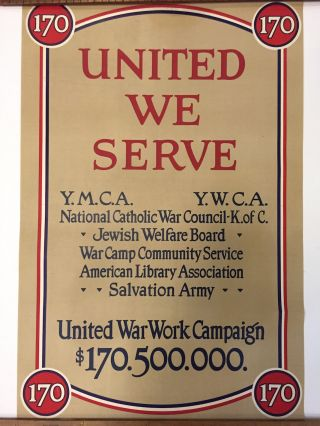 United We Serve. ANONYMOUS