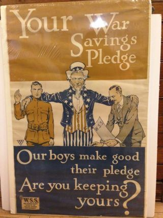 Your War Savings Pledge; Our boys make good their pledge are you keeping yours? ANONYMOUS.