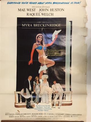 Myra Breckenridge Movie Poster; Everything You've Heard About Myra Breckenridge is True!