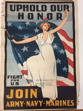 Uphold Our Honor; Fight for Us : Join Army-Navy-Marines