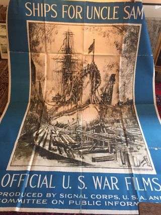 Ships For Uncle Sam: Official U.S. War Films. Joseph PENNELL.