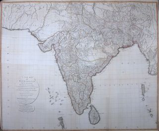 A New Map of Hindoostan from the latest authorities, Chiefly from the actual surveys made by Major James Rennell. LAURIE, WHITTLE.