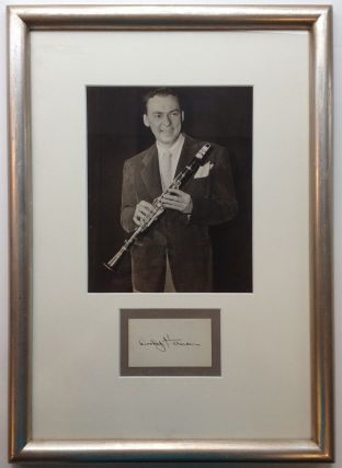 Signature Framed with Photograph. Woody HERMAN, 1913 - 1987