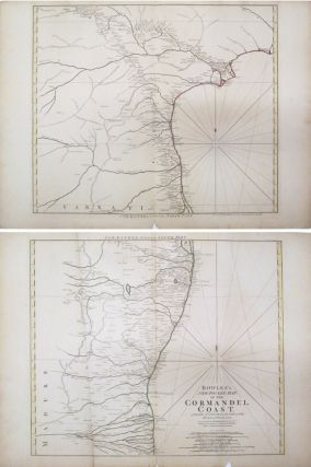 Bowles's New Pocket Map of the Cormandel Coast. Carington BOWLES