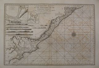 A Geohydrographic Draught of the Northern Circars or Maritime Provinces on the Coasts of Golconda...