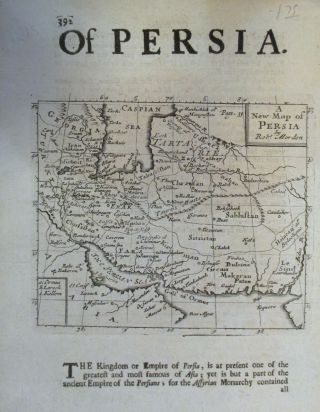 A New Map of Persia. Robert MORDEN