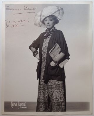Inscribed Vintage Photograph. Florence REED, 1883 - 1967