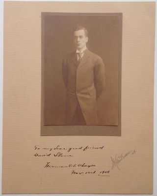 Rare Inscribed Signed Photograph. Herman E. S. CHAYES, 1880 - 1933